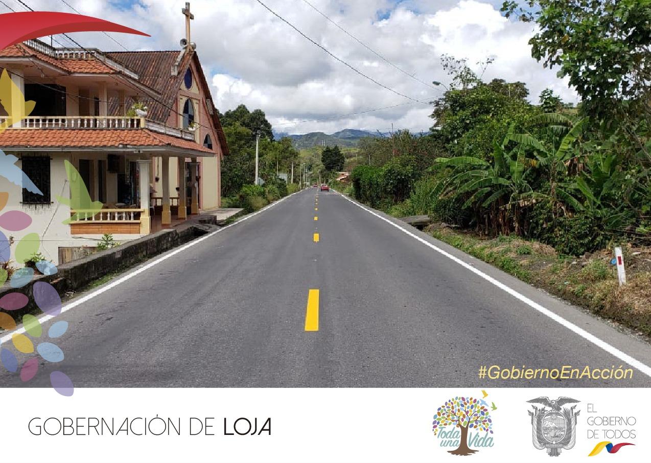 Vicepresidente inaugura obra vial en Loja
