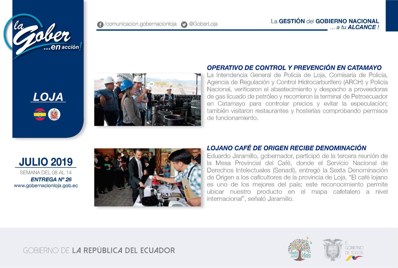 La Gober en acción, semanario informativo del accionar gubernamental en territorio.